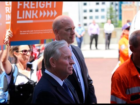 Perth Freight Link: Rally at Parliament House 24 November 20
