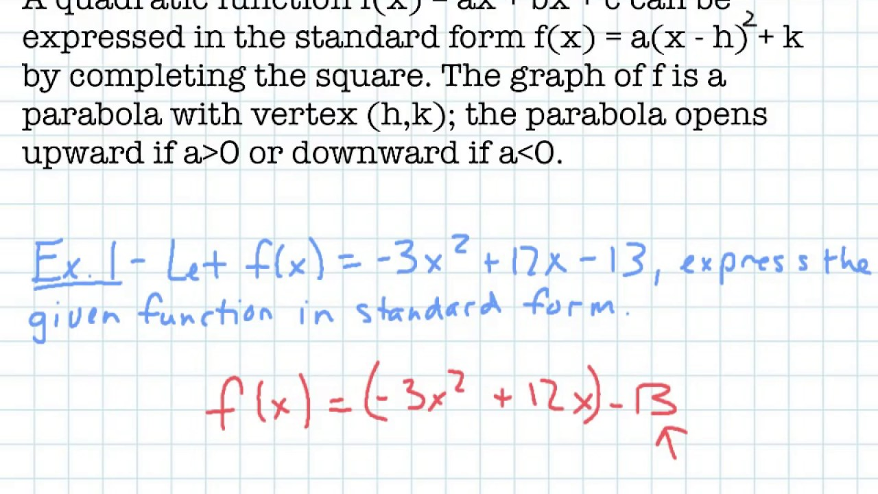 Section 31a quadratic functions and models youtube section 31a quadratic functions and models falaconquin