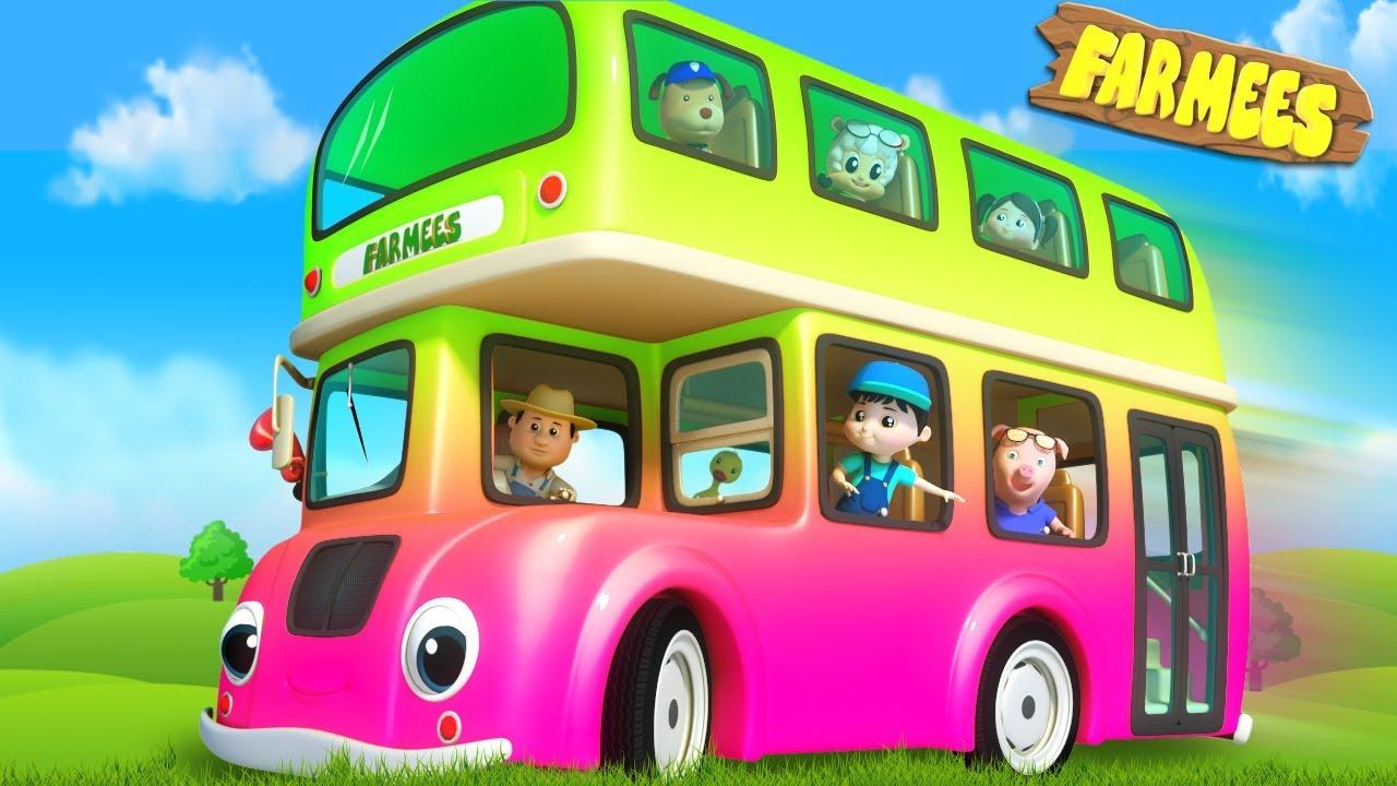 Wheels On The Bus | Kids Cartoon & Rhymes by Farmees