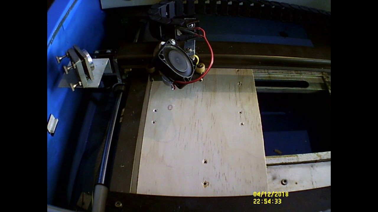 Fast engraving with the K40