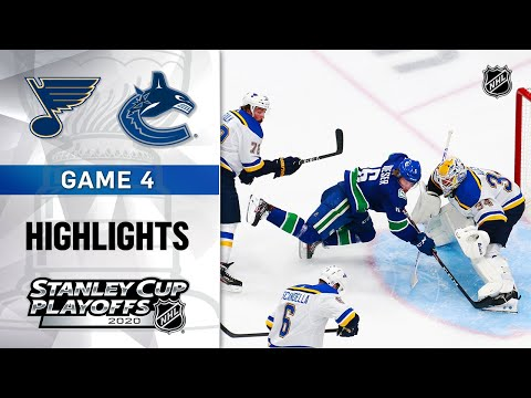 NHL Highlights | First Round, Gm4: Blues @ Canucks - Aug. 17, 2020