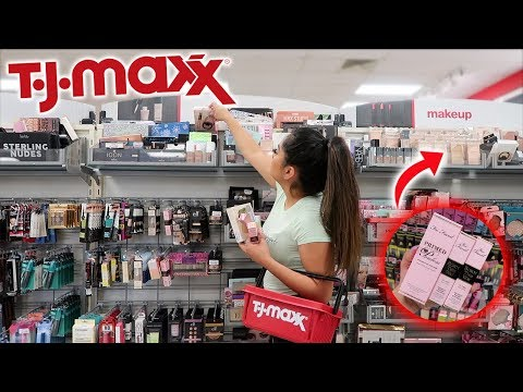 SHOP WITH ME AT TJMAXX! CHEAP HIGH END, DRUGSTORE MAKEUP, SKINCARE!