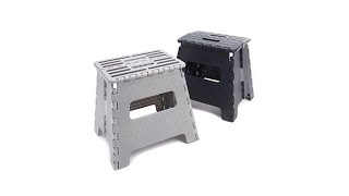 StoreSmith 2pack Folding Step Stools  Extra Wide