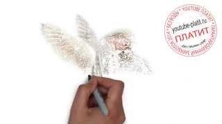 Рисуем поэтапно девушку ангела   Как легко нарисовать ангела для начинающих(как нарисовать ангела, как нарисовать ангела поэтапно, как нарисовать ангела карандашом, как нарисовать..., 2014-07-31T03:49:19.000Z)