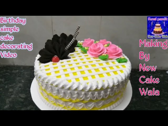Top Amazing Pineapple Birthday Simple Cake Decorating Whipped Cream Ideas Making By New Cake Wala Youtube