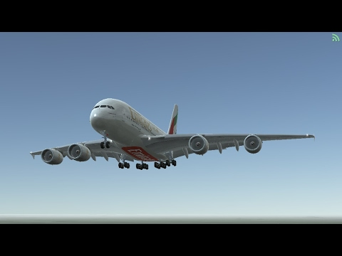 Flight Simulators broadcast. Emirates Airlines Airbus A380-800/ Takeoff From London Heathrow(EGLL).