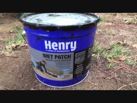 Getting Ready To Patch A Flat Roof With Henry Wet Patch