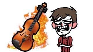 Mein Nachbar hat eine Geige.
