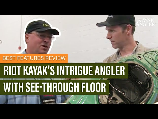 Riot Kayak's Intrigue Angler with See-Through Floor | Fishing Kayak | Features Review & Walk Around