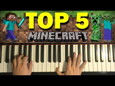 TOP 5 MINECRAFT MUSIC ON PIANO - YouTube