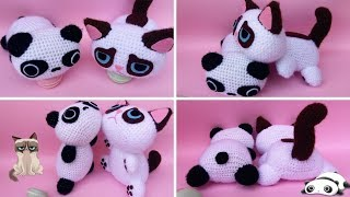 AMIGURUMI TAREPANDA E GRUMPY CAT , video tutorial + schema scritti.