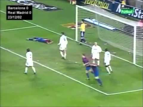 Barcelona vs Real Madrid 2002 2003 Resumen (Riquelme,Figo,Roberto Carlos,Kluivert)