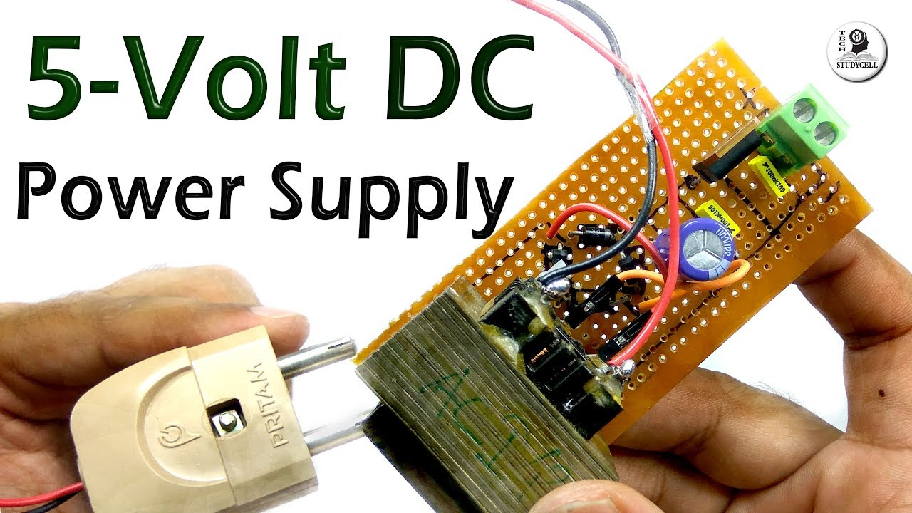 How To Make 5 Volt Power Supply In Minutes Easily Youtube Innovative Circuit Ict120124a Comm Series 120vac 12vdc 4 Amp