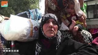 """بالفيديو.. """"العين"""" ترصد نزوح الأهالي من داعش في الحسكة"""
