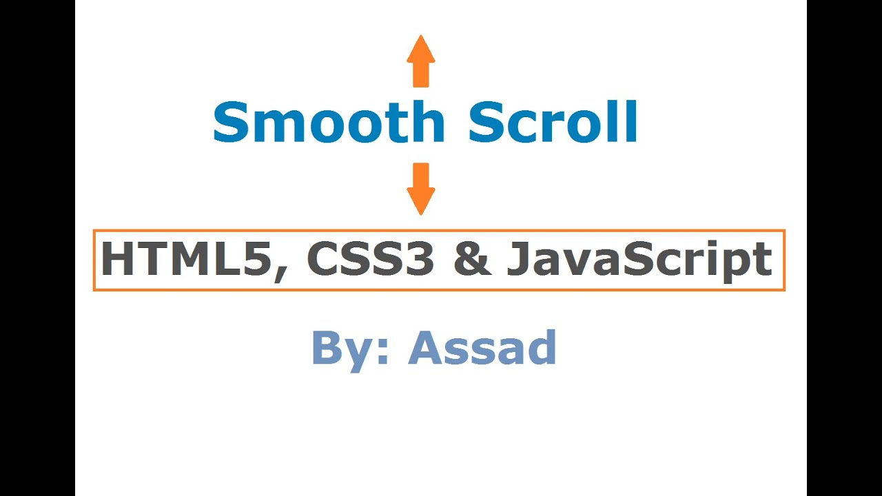 Smooth Scroll Lesson HTML, CSS and JavaScript (English)