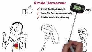 Q-Probe Flex Head Instant Read Digital Thermometer
