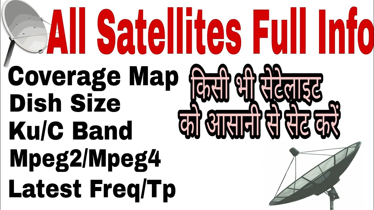 All satellites full details|coverage map,Dish size,frequency or tp| Lyngsat