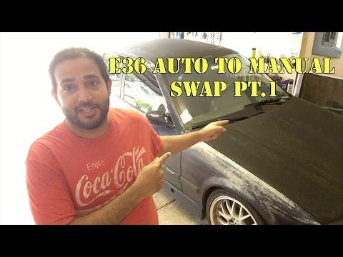 E36 BMW Auto to Manual Swap Pt.1