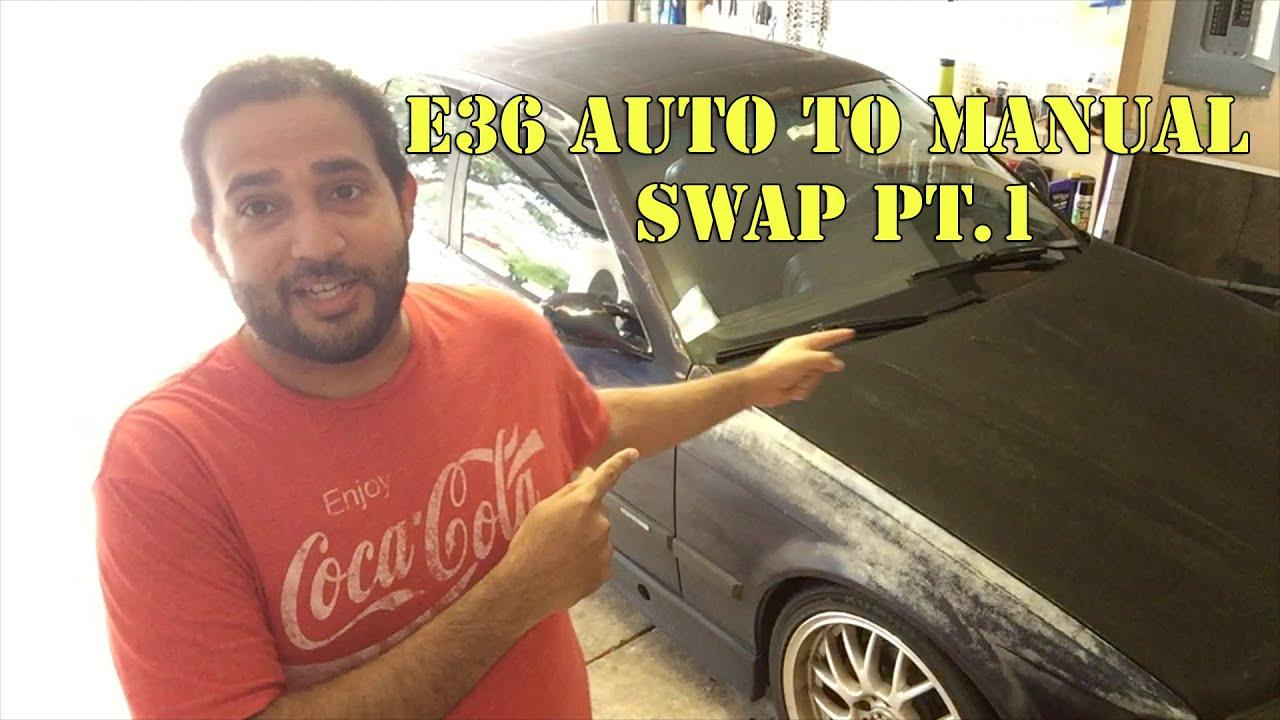 e36 bmw auto to manual swap pt 1 youtube rh youtube com bmw e36 m3 automatic to manual swap bmw e36 convert auto to manual