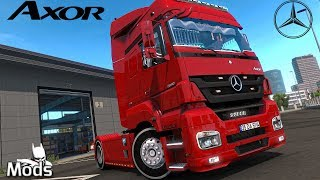 ETS2 v1 35 Mod ️ Mercedes Axor 1840 MP3 V2 Trailer