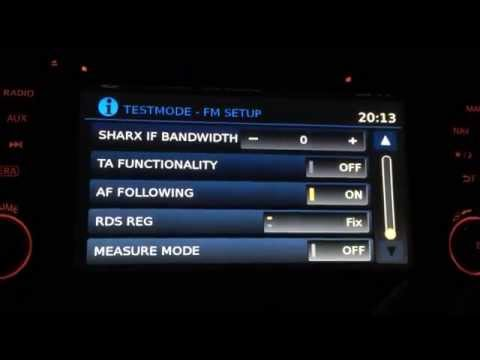 Qashqai J11 - Nissan Connect TEST MODE Menu - quick walkthrough