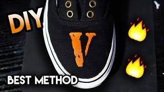 How To: Make Your Own Homemade Vinyl Stencil ! Vlone Your Vans Custom Tutorial (Best Method)