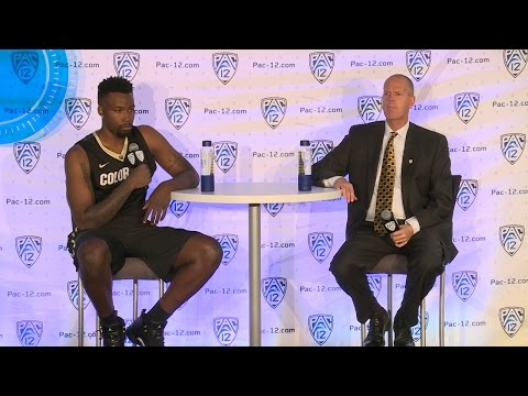 2016 Pac-12 Men's Basketball Media Day: Colorado's Tad Boyle and Wesley Gordon