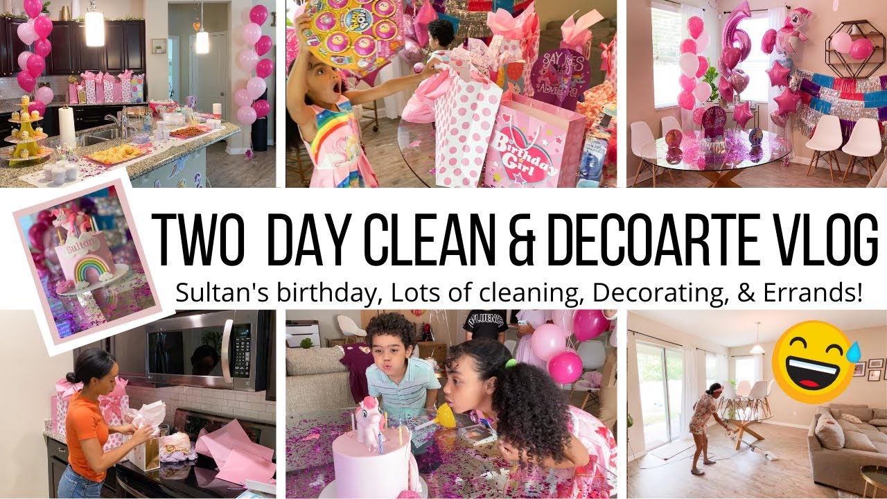 CLEAN WITH ME BEFORE GUESTS // BIRTHDAY PARTY PREP & DECORATE // Jessica Tull VLOGS