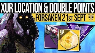 Video Destiny 2 | XUR'S DLC LOCATION & DOUBLE POINTS! Exotic Rolls, Inventory & Double Valor (21st Sept) download MP3, 3GP, MP4, WEBM, AVI, FLV September 2018