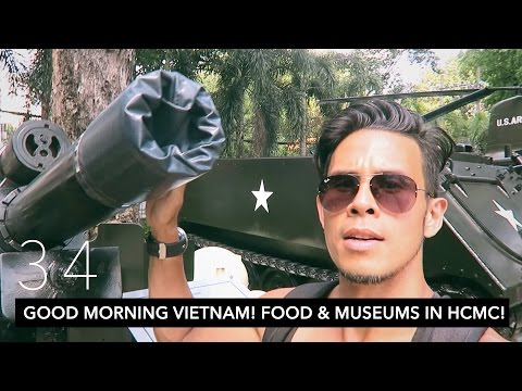 GOOD MORNING VIETNAM! FOOD & MUSEUMS IN HO CHI MINH CITY! // HCMC DAY 1 | VLOG 34