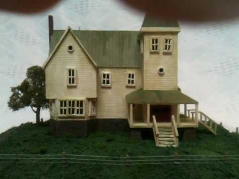 Beetlejuice scale model house youtube for House sketches from photos