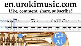Download Lagu Tuba lessons Ed Sheeran - Perfect Sheet Music Tutorial um-i352 Mp3