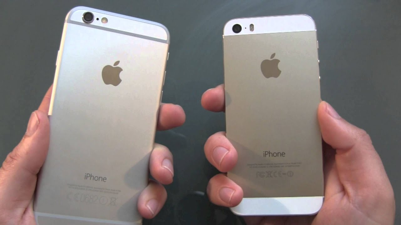 iphone 6 vs iphone 5s boot vergleich youtube. Black Bedroom Furniture Sets. Home Design Ideas