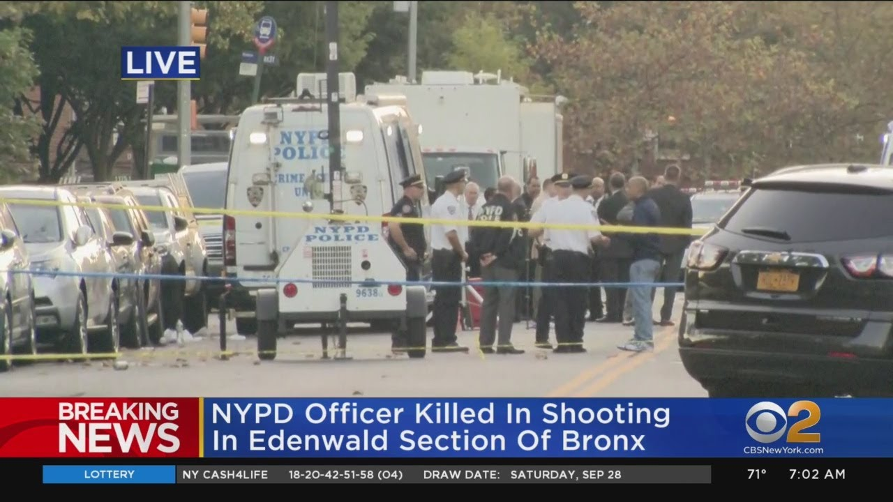 NYPD Officer Killed In Shooting In Edenwald Section Of Bronx