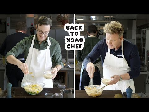 Gordon Ramsay Challenges Amateur Cook to Keep Up with Him | Bon Appetit