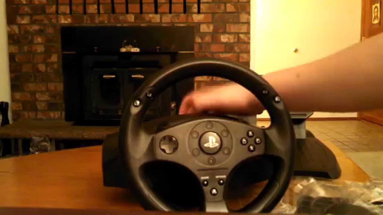 ps4 racing wheel unboxing youtube. Black Bedroom Furniture Sets. Home Design Ideas