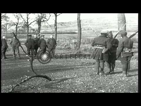 U.S. Army African American Soldiers Guard German Prisoners During World War I HD Stock Footage