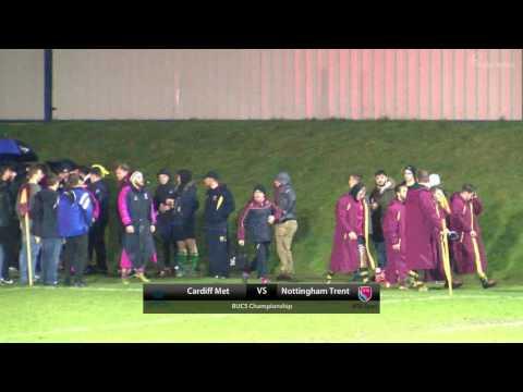 BUCS Rugby Union Championship: Cardiff Met v Nottingham Trent   KO 1900, 1 March 2017