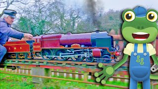 Gecko's Miniature Trains for Kids | Gecko's Real Vehicles | Learning and Educational Videos For Kids