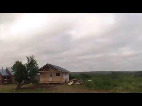Alaska cabin building