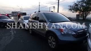 Շղթայական ավտովթար Երևանում  բախվել են ռուսական համարանիշներով Mercedes ը, 2 Honda ները և Opel ը