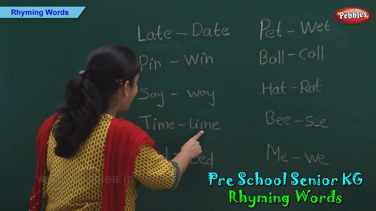 medium resolution of Rhyming Words   Rhyming Words For Kids   Pre School Kindergarten - YouTube