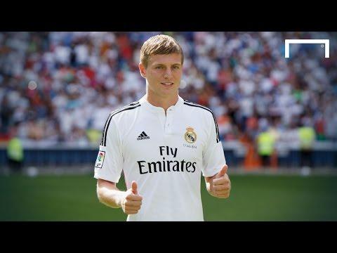 Toni Kroos unveiled at Real Madrid