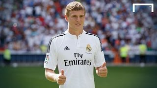 Toni kroos is unveiled at the bernabéu after his move from bayern munich with world cup winner revealing that real madrid was only option for him. su...