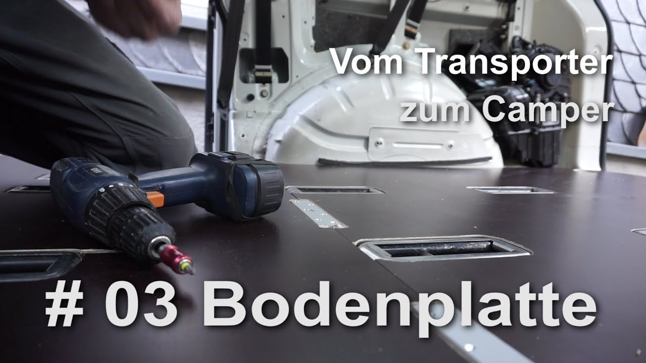 vw t5 vom transporter zum vanlife camper umbau bodenplatte. Black Bedroom Furniture Sets. Home Design Ideas