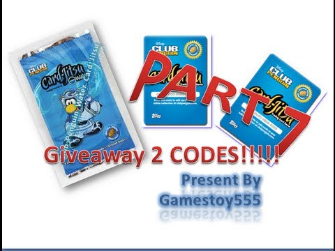 Giveaway 2 codes While Opening 2 packs of Club Penguin Card-Jitsu(Water)-Part 7