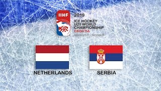 IIHF 2019 ICE HOCKEY U20 WORLD CHAMPIONSHIP - DIVISION II GROUP B - NETHERLANDS vs SERBIA