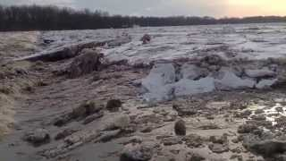 Huge chunks of ice on the Maumee river! THE AWESOME POWER OF THE MIGHTY MAUMEE RIVER!