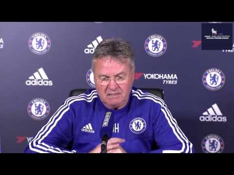 Guus HIDDINK press conference pre Scunthorpe in FA CUP third round