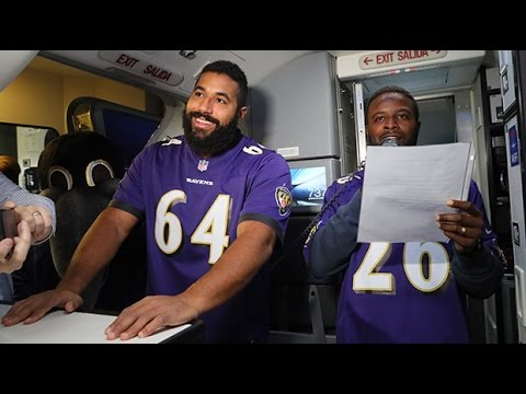 Ravens Players Surprise Airline Passengers | Baltimore Ravens